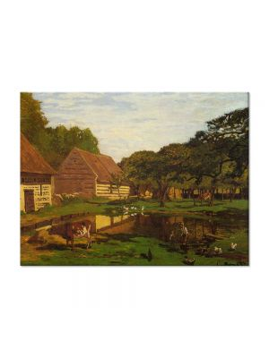 Tablou Arta Clasica Pictor Claude Monet A Farmyard in Normandy 1863 80 x 110 cm