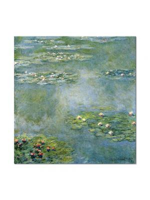 Tablou Arta Clasica Pictor Claude Monet Water Lilies 1907 80 x 80 cm