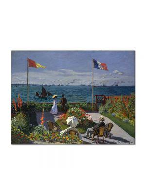 Tablou Arta Clasica Pictor Claude Monet Garden at Sainte-Adresse 1867 80 x 110 cm