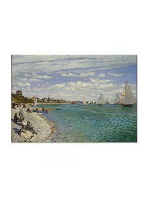 Tablou Arta Clasica Pictor Claude Monet Regatta at Sainte-Adresse 1867 80 x 110 cm