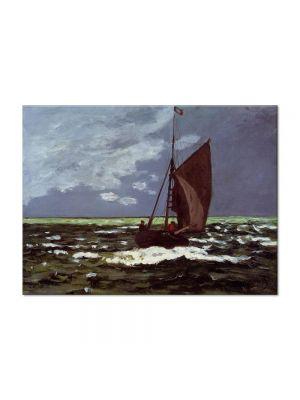 Tablou Arta Clasica Pictor Claude Monet Stormy Seascape 1866 80 x 110 cm