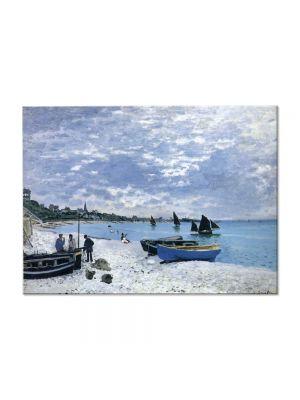 Tablou Arta Clasica Pictor Claude Monet The Beach at Sainte-Adresse 1867 80 x 110 cm