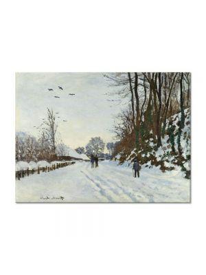 Tablou Arta Clasica Pictor Claude Monet The Road to the Farm of Saint-Simeon in Winter 1867 80 x 110 cm