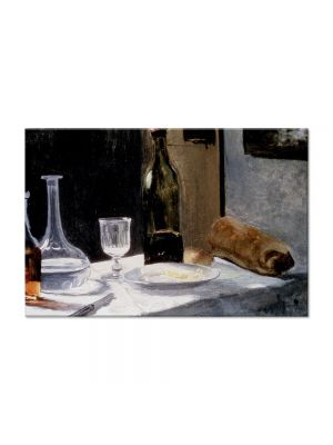 Tablou Arta Clasica Pictor Claude Monet Still Life With Bottles 1863 80 x 120 cm