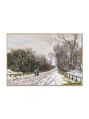 Tablou Arta Clasica Pictor Claude Monet The Road to the Farm of Saint-Simeon 1867 80 x 120 cm