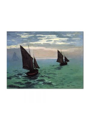 Tablou Arta Clasica Pictor Claude Monet Fishing Boats at Sea 1868 80 x 110 cm