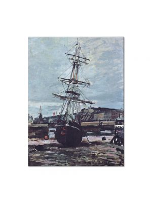 Tablou Arta Clasica Pictor Claude Monet Gestrandetes Boot in Fecamp 1868 80 x 100 cm