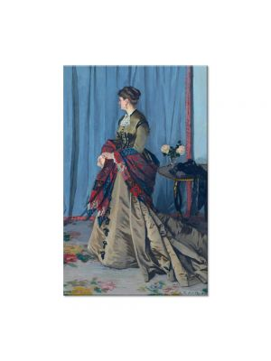 Tablou Arta Clasica Pictor Claude Monet Portrait of Madame Gaudibert 1868 80 x 120 cm