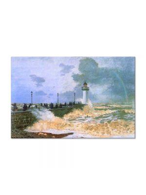 Tablou Arta Clasica Pictor Claude Monet The Jetty at Le Havre 1868 80 x 120 cm