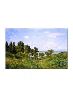 Tablou Arta Clasica Pictor Claude Monet By the Sea 1864 80 x 120 cm