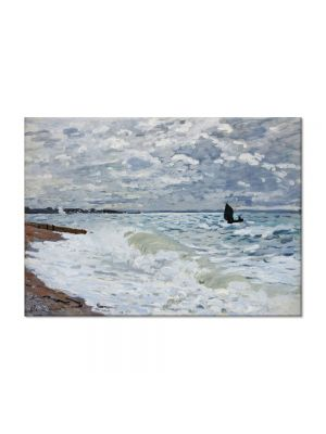 Tablou Arta Clasica Pictor Claude Monet The Sea at Saint-Adresse 1868 80 x 110 cm