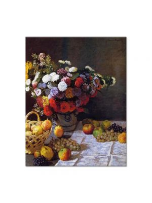 Tablou Arta Clasica Pictor Claude Monet Flowers and Fruit 1869 80 x 100 cm