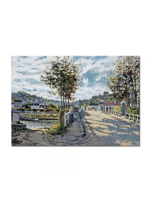 Tablou Arta Clasica Pictor Claude Monet The Bridge at Bougival 1869 80 x 110 cm