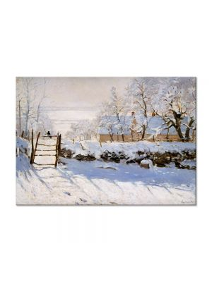Tablou Arta Clasica Pictor Claude Monet The Magpie 1869 80 x 110 cm