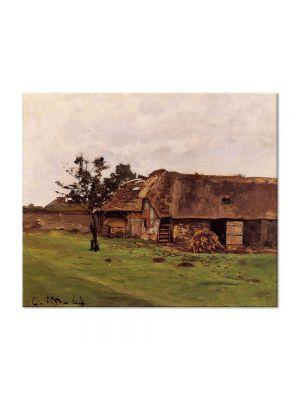 Tablou Arta Clasica Pictor Claude Monet Farm near Honfleur 1864 80 x 100 cm
