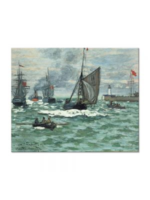 Tablou Arta Clasica Pictor Claude Monet Entrance to the Port of Honfleur 1870 80 x 100 cm