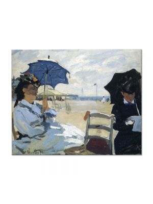 Tablou Arta Clasica Pictor Claude Monet The Beach at Trouville 1870 80 x 100 cm