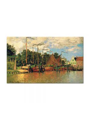 Tablou Arta Clasica Pictor Claude Monet Boats at Zaandam 1871 80 x 120 cm