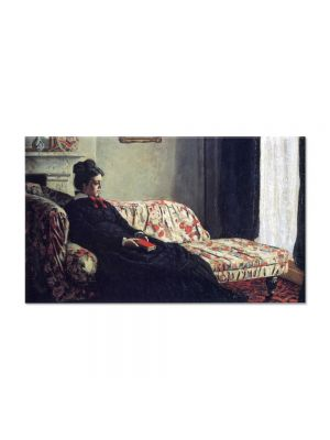 Tablou Arta Clasica Pictor Claude Monet Meditation, Madame Monet Sitting on a Sofa 1871 80 x 140 cm