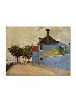 Tablou Arta Clasica Pictor Claude Monet The Blue house at Zaandam 1871 80 x 110 cm
