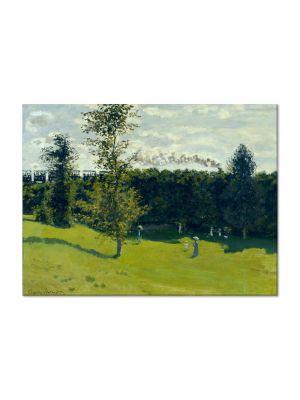 Tablou Arta Clasica Pictor Claude Monet The Train in the Country 1871 80 x 110 cm