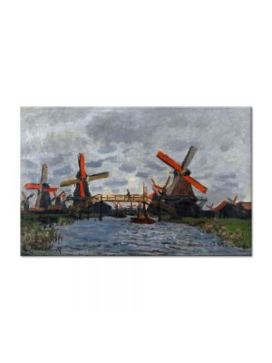 Tablou Arta Clasica Pictor Claude Monet Windmills near Zaandam 1871 80 x 120 cm