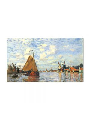 Tablou Arta Clasica Pictor Claude Monet Zaan at Zaandam 1871 80 x 140 cm