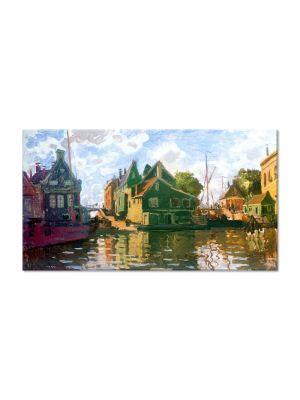 Tablou Arta Clasica Pictor Claude Monet Zaandam, Canal 1871 80 x 150 cm