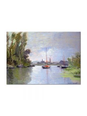 Tablou Arta Clasica Pictor Claude Monet Argenteuil Seen from the Small Arm of the Seine 1872 80 x 110 cm