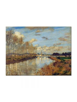 Tablou Arta Clasica Pictor Claude Monet Argenteuil, Seen from the Small Arm of the Seine 1873 80 x 110 cm