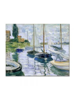 Tablou Arta Clasica Pictor Claude Monet Boats at rest, at Petit-Gennevilliers 1872 80 x 100 cm