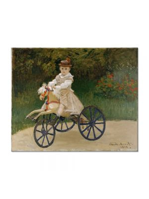 Tablou Arta Clasica Pictor Claude Monet Jean Monet on a Mechanical Horse 1872 80 x 100 cm