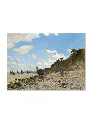 Tablou Arta Clasica Pictor Claude Monet The Beach at Honfleur 1864-1866 80 x 110 cm