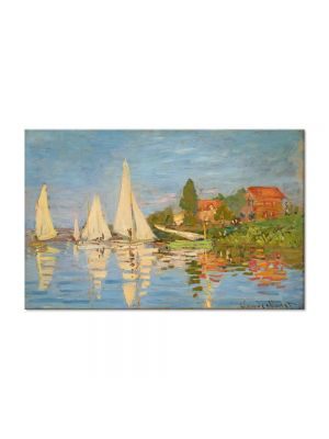 Tablou Arta Clasica Pictor Claude Monet Regatta at Argenteuil 1872 80 x 120 cm