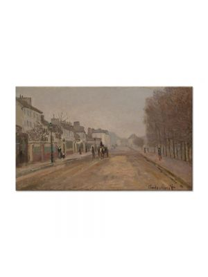 Tablou Arta Clasica Pictor Claude Monet The Boulevard Heloise in Argenteuil 1872 80 x 140 cm