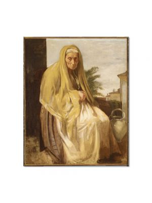 Tablou Arta Clasica Pictor Edgar Degas The Old Italian Woman 1857 80 x 90 cm