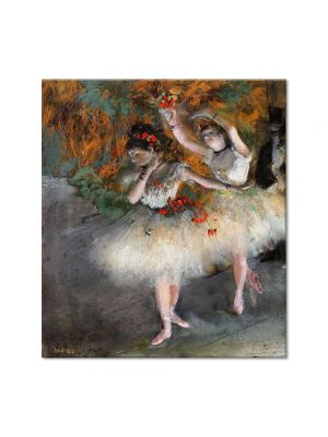 Tablou Arta Clasica Pictor Edgar Degas Two Dancers Entering the Stage 1878 80 x 90 cm