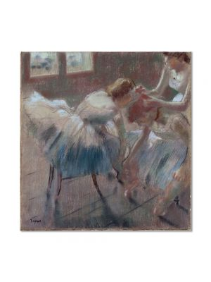 Tablou Arta Clasica Pictor Edgar Degas Three Dancers Preparing for Class 1878 80 x 80 cm
