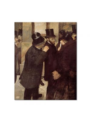 Tablou Arta Clasica Pictor Edgar Degas At the Stock Exchange 1879 80 x 100 cm