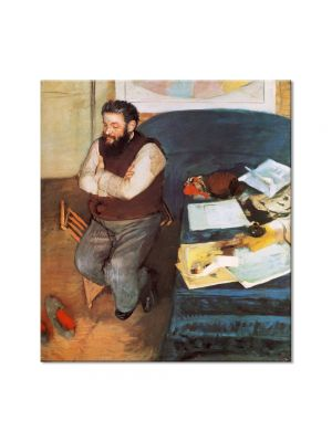 Tablou Arta Clasica Pictor Edgar Degas Diego Martelli 1879 80 x 90 cm