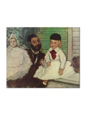 Tablou Arta Clasica Pictor Edgar Degas Count Lepic and His Daughters 1870 80 x 100 cm
