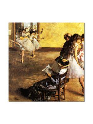Tablou Arta Clasica Pictor Edgar Degas Ballet Class, the Dance Hall 1880 80 x 80 cm