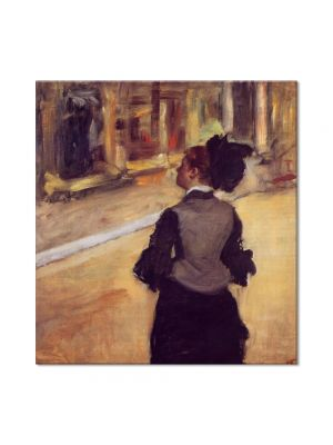Tablou Arta Clasica Pictor Edgar Degas A Visit to the Museum 1880 80 x 90 cm