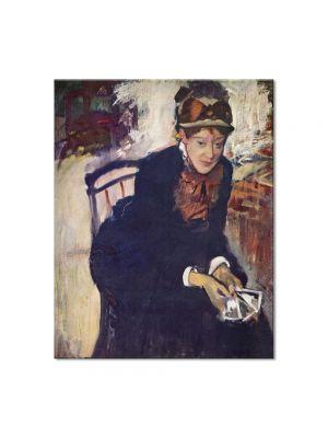 Tablou Arta Clasica Pictor Edgar Degas Portrait of Mary Cassatt 1884 80 x 100 cm
