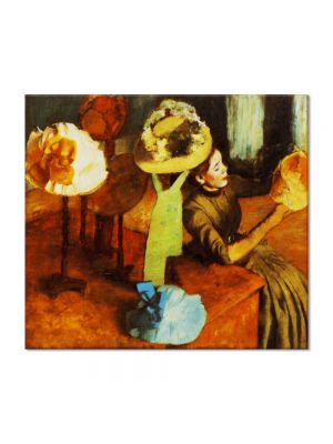 Tablou Arta Clasica Pictor Edgar Degas The Millinery Shop 1884 80 x 90 cm