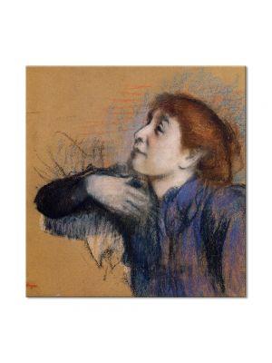 Tablou Arta Clasica Pictor Edgar Degas Bust of a Woman 1885 80 x 80 cm