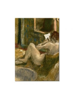 Tablou Arta Clasica Pictor Edgar Degas Nude from the Rear, Reading 1885 80 x 100 cm