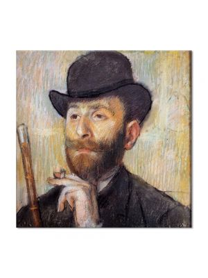 Tablou Arta Clasica Pictor Edgar Degas Portrait of Zacherie Zacharian 1886 80 x 80 cm
