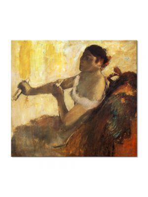 Tablou Arta Clasica Pictor Edgar Degas Seated Woman pulling her glove. Rose Caron 1890 80 x 90 cm