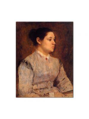 Tablou Arta Clasica Pictor Edgar Degas Portrait of a Young Woman 1865 80 x 100 cm